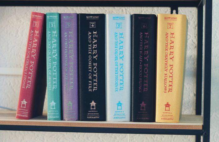 De boeken van Harry Potter op volgorde van 1 t/m 7