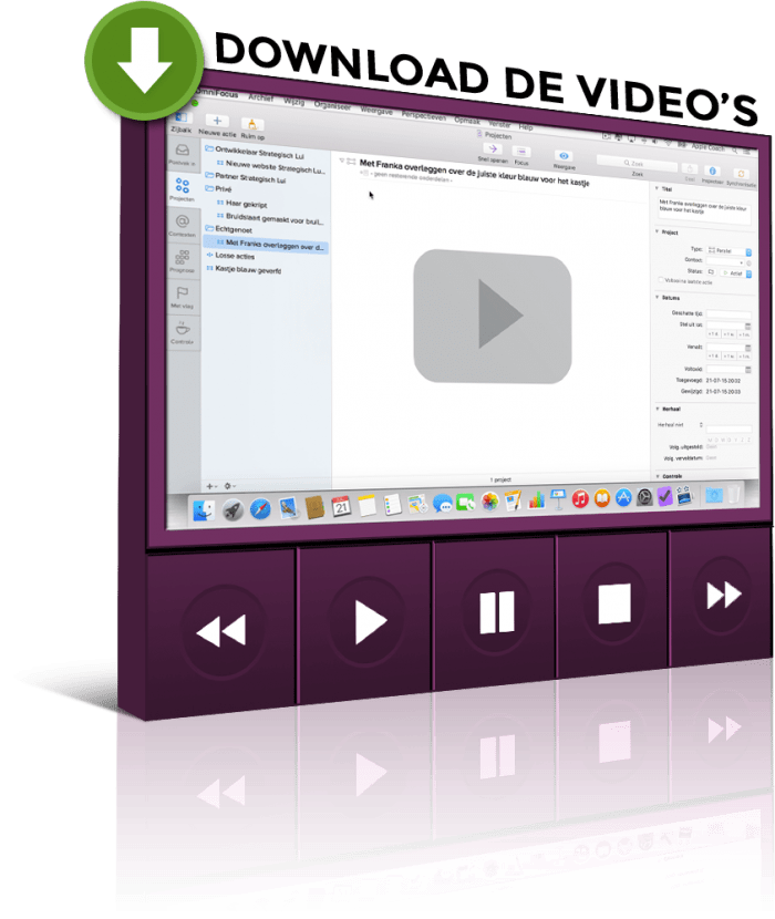 Download de OmniFocus video's.