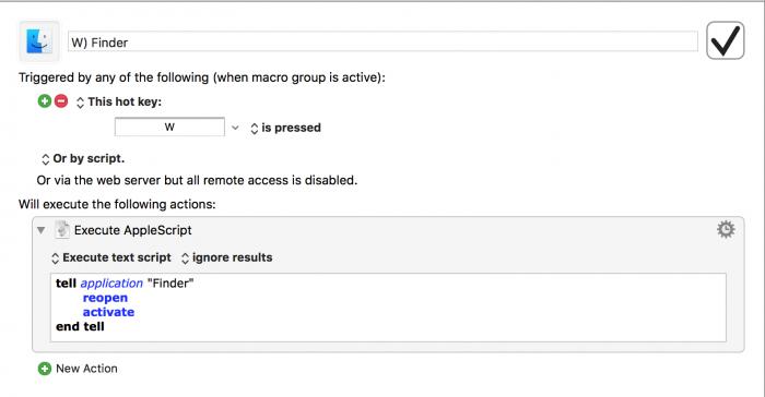 De Finder is een uitzondering, waar we AppleScript voor nodig hebben
