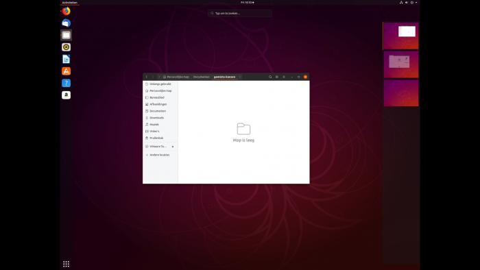 """Virtuele bureaubladen op Ubuntu maak je via de knop """"Activiteiten"""""""